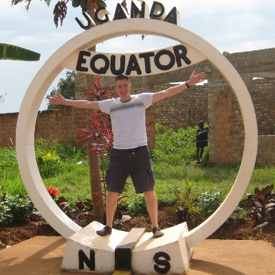 Trevor spanning the equator